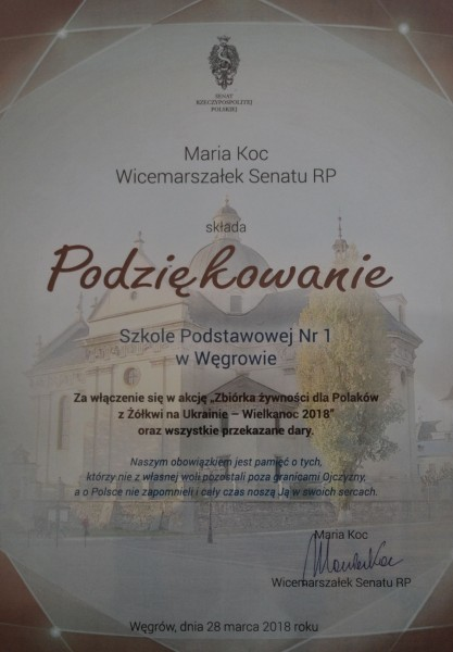 podziękowanie-Maria Koc
